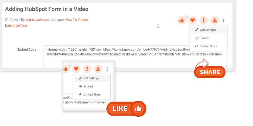 Freely Embed These Interactive Videos on any Webpage