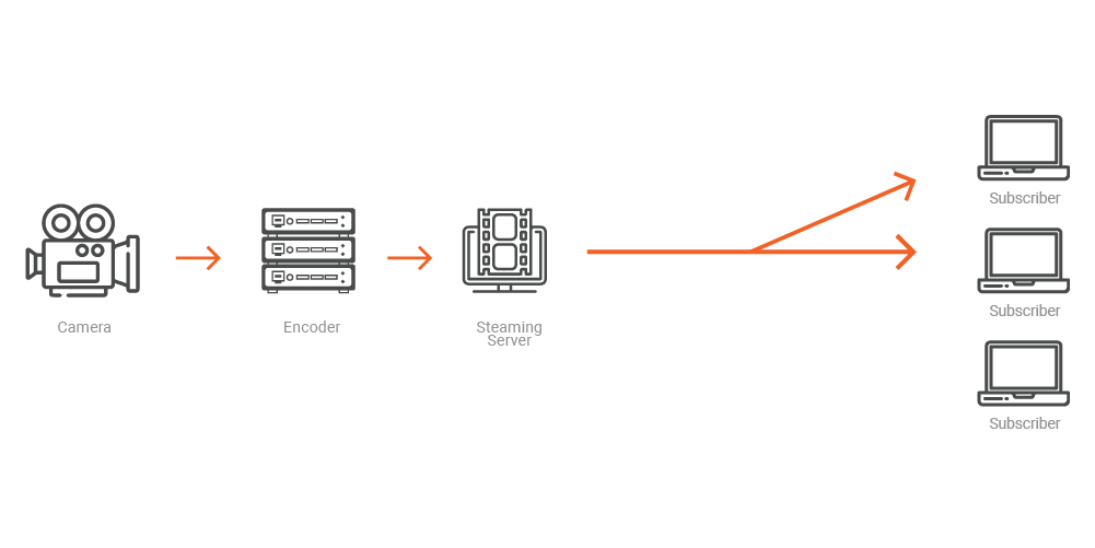 Efficient Live Video Distribution with Multicast or P2P Streaming
